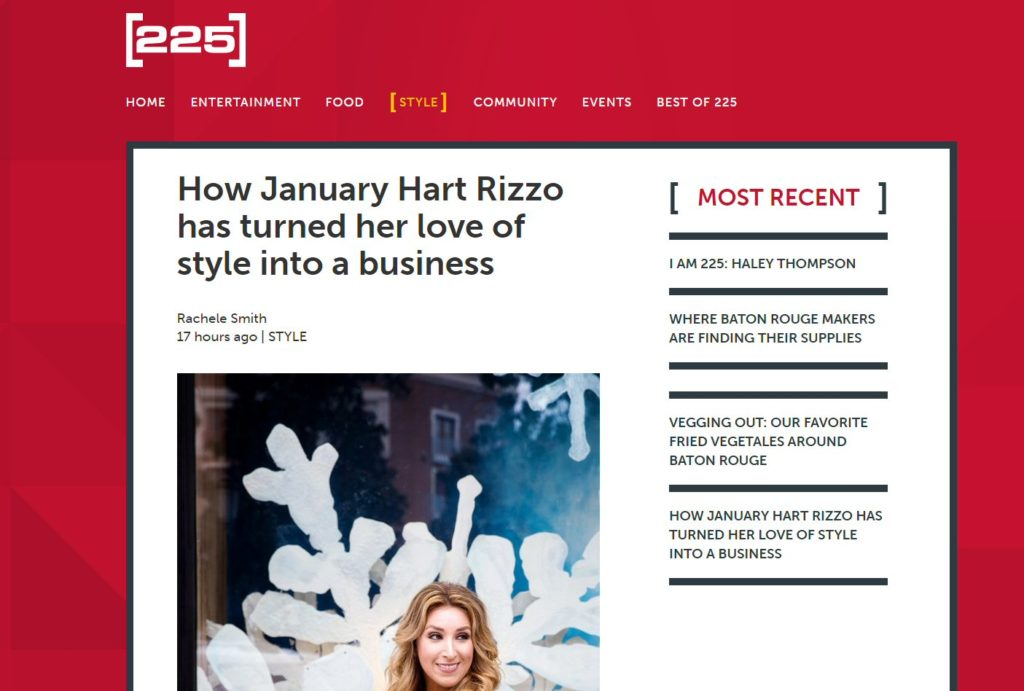 225 Magazine | January Hart Blog