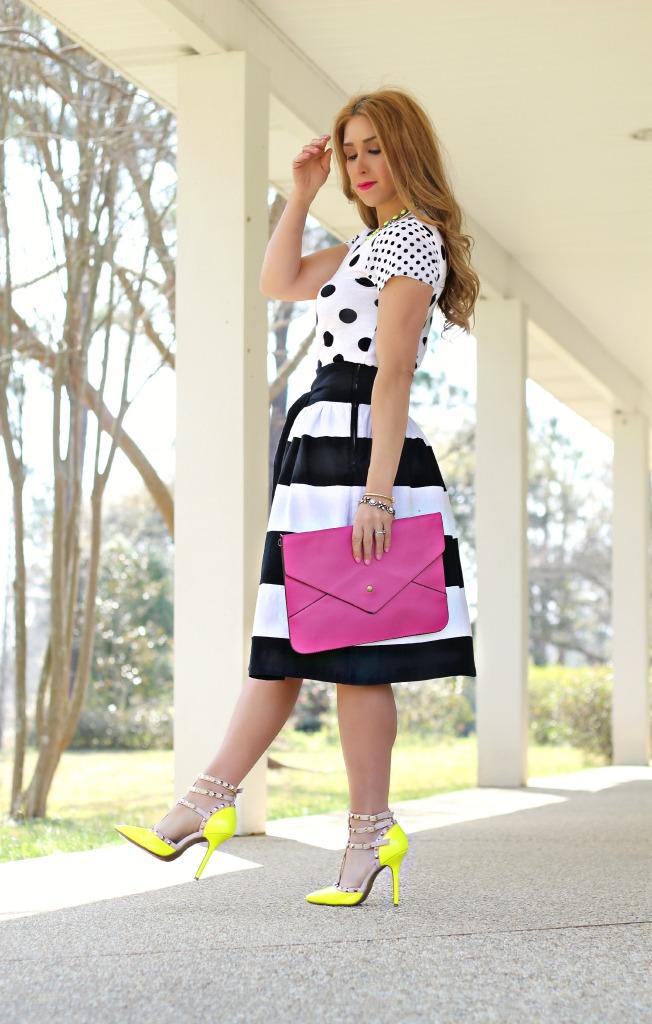 bold stripe skirt 2