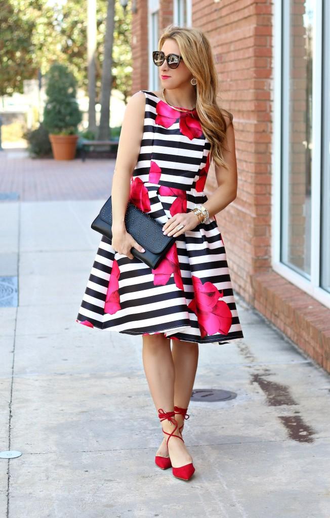 stripe floral dress 1
