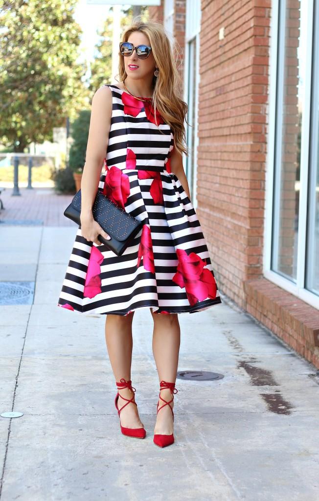 stripe floral dress 5