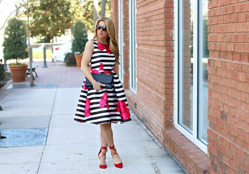 stripe floral dress 8