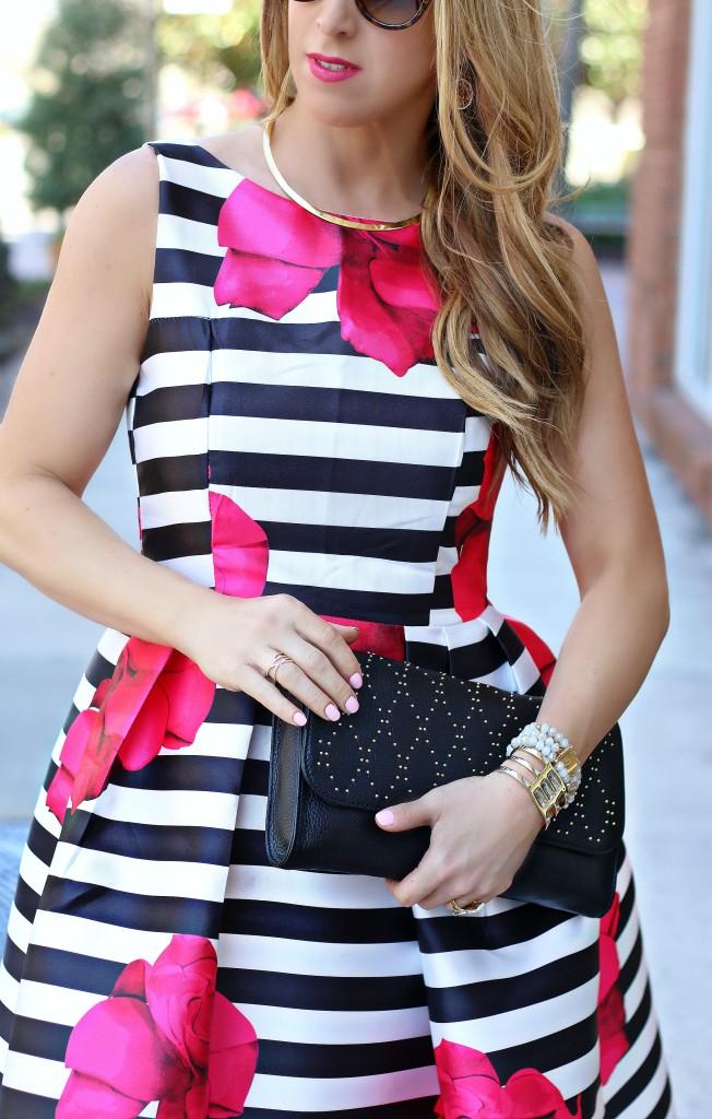 stripe floral dress 3