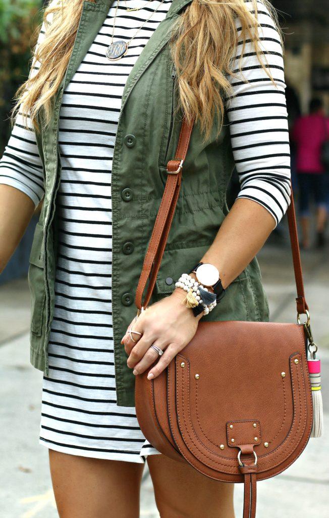 striped t shirt dress