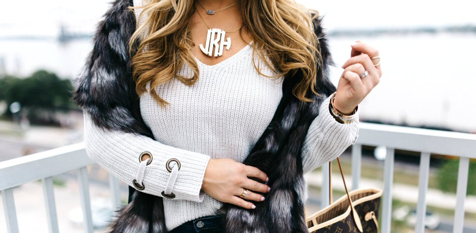 How to glam up a basic sweater