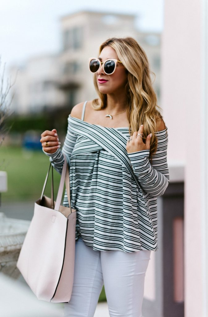 off the shoulder tops spring