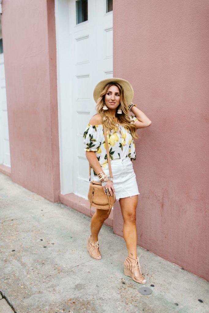 Lemon print blouse