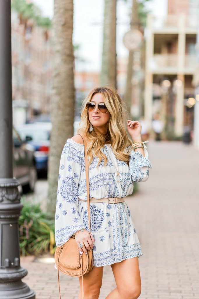boho long sleeve dress