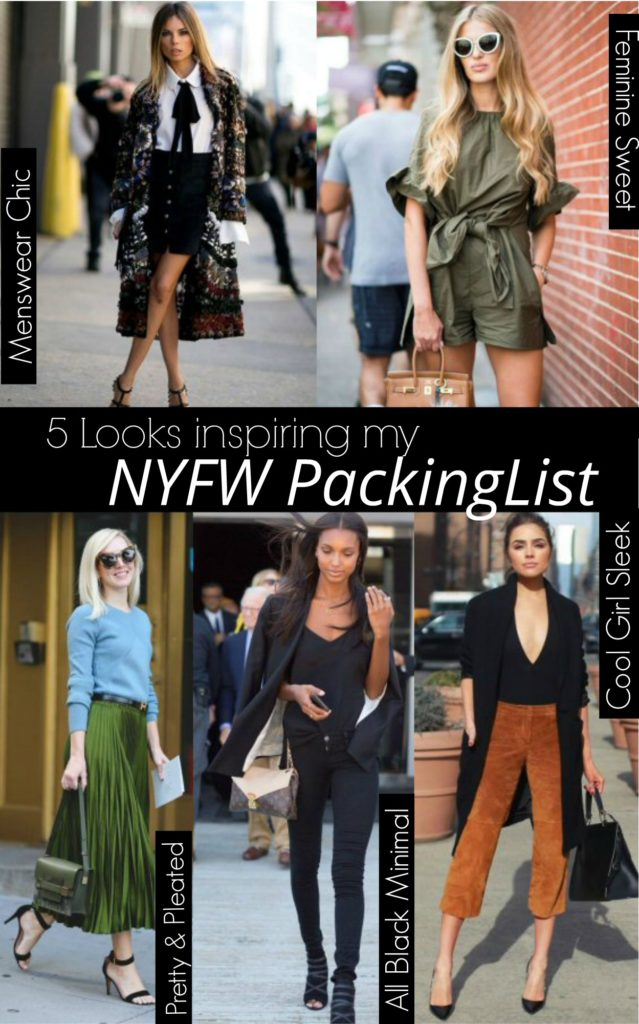 NYFW Packing List