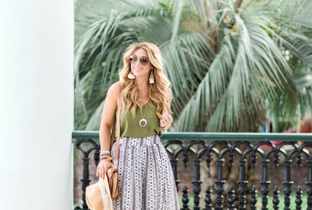 Bohemian Style Maxi Skirt