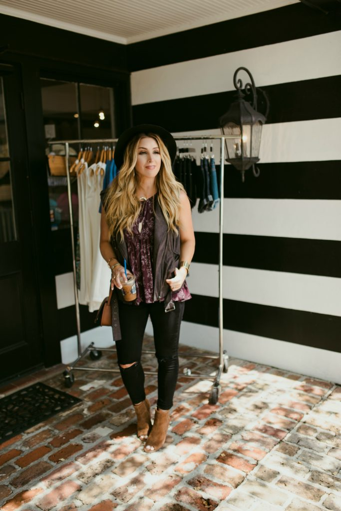 How to layer a fall moto vest