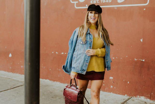 mustard sweater womens