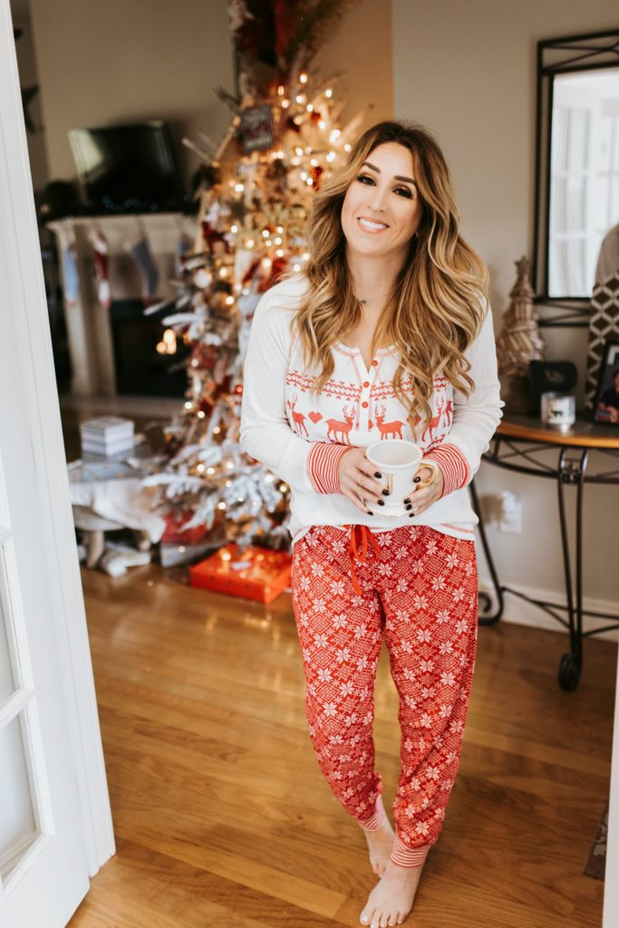 2 piece womens Christmas loungewear