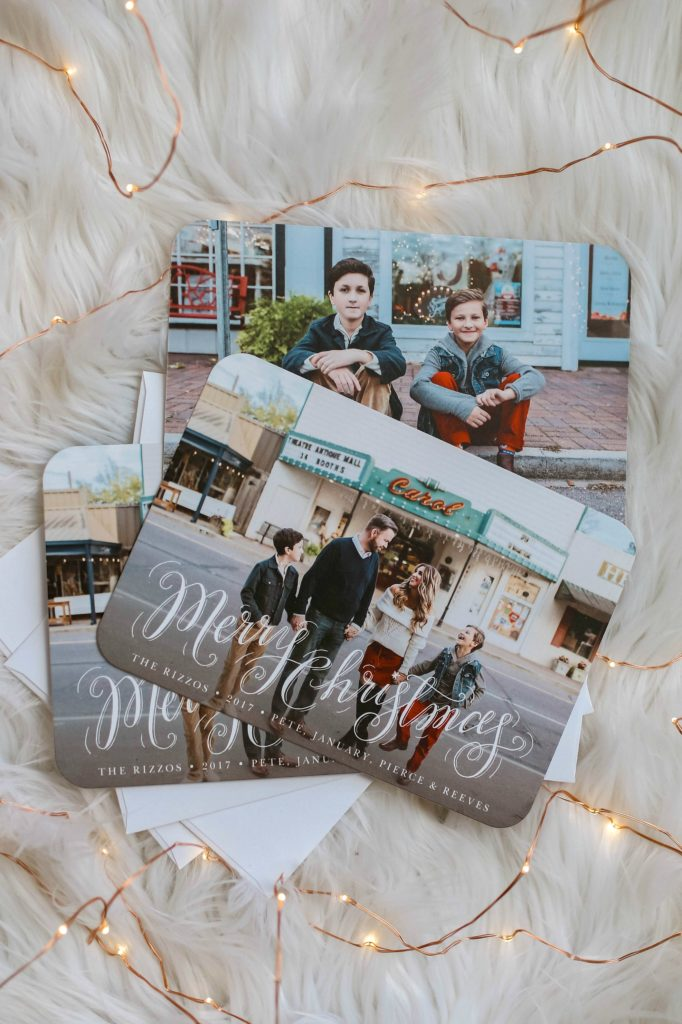 Family Christmas photo cards