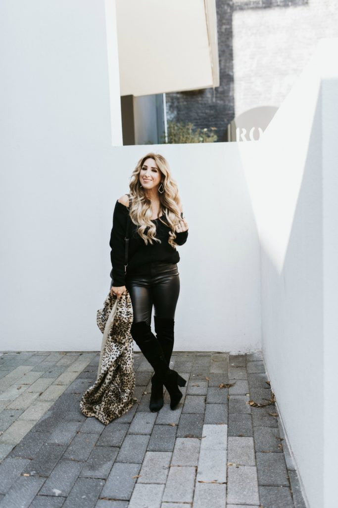 Ways to style leather pants