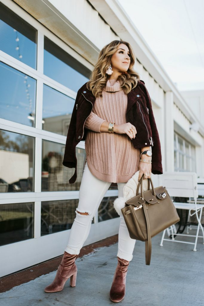 Burgundy and blush outfit ideas