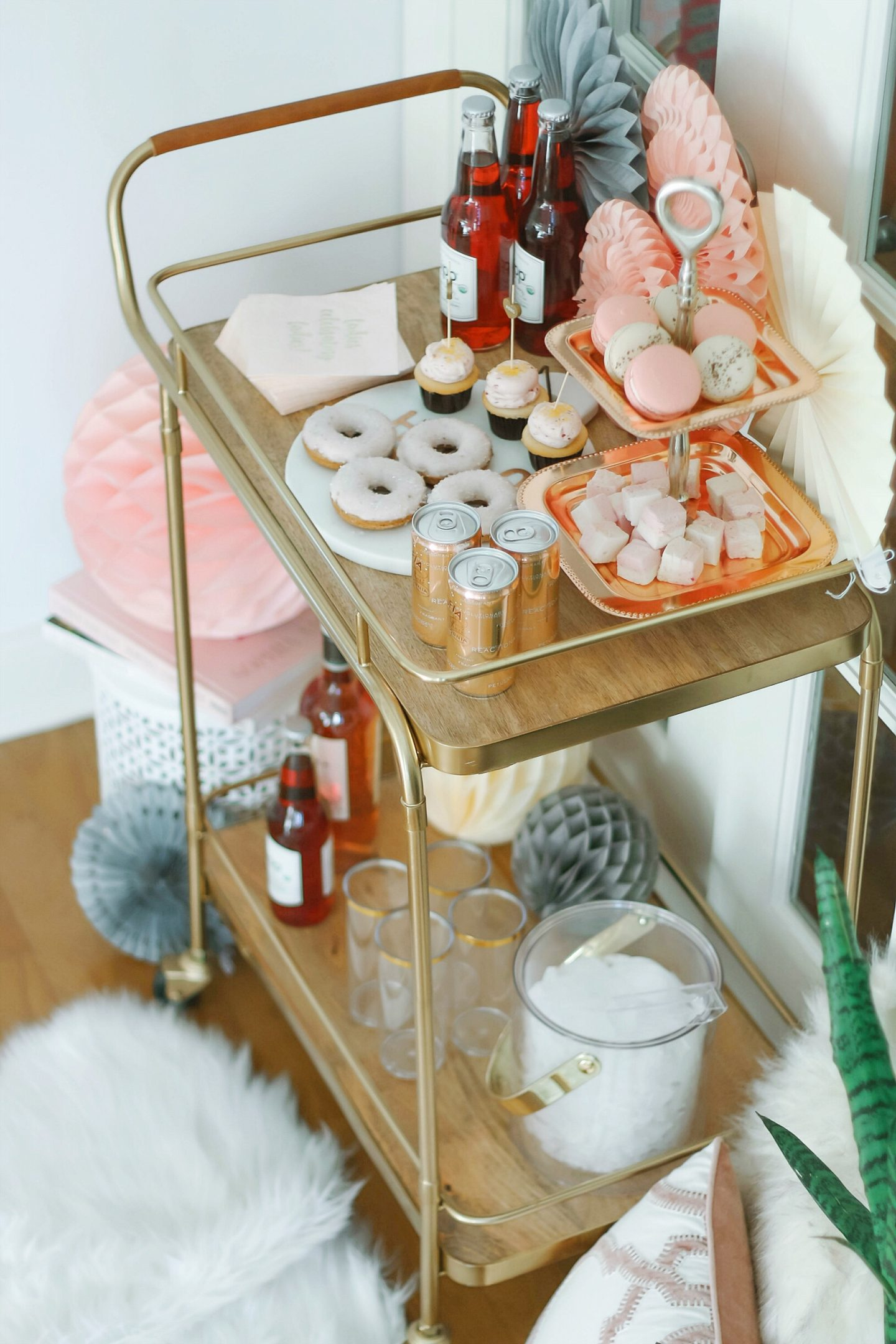 Galentines Day Bar Cart
