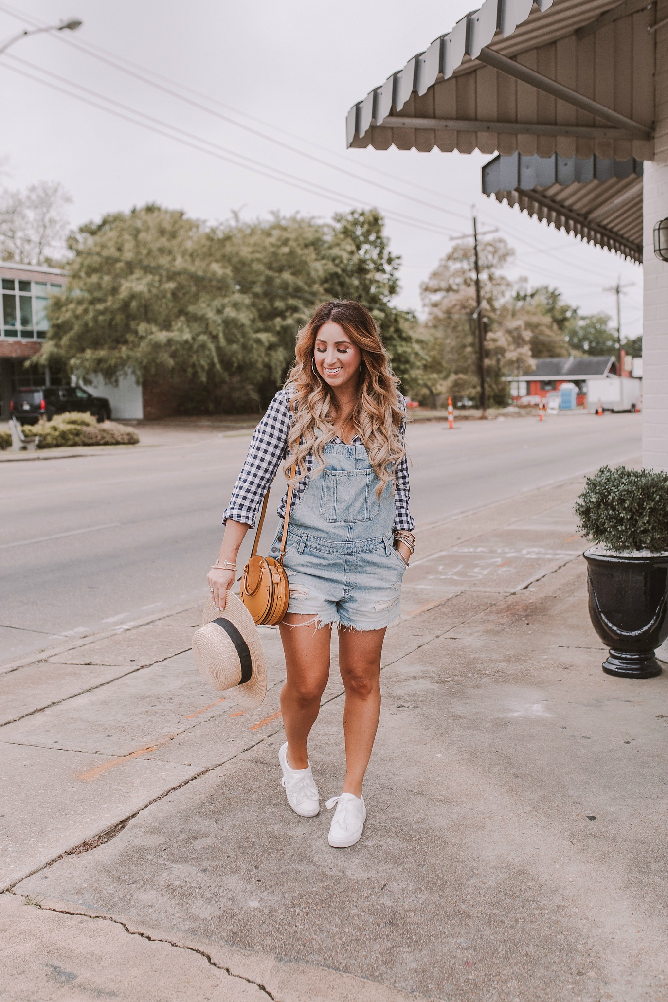 how to style denim overalls